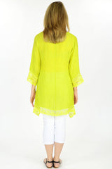 Lime Yellow Yamba Tunic - at I Love Tunics @ www.ilovetunics.com = Number One! Tunics Destination