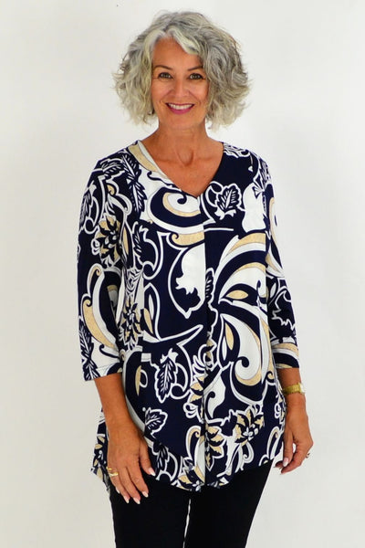 Susan Swirl Tunic Top | I Love Tunics | Tunic Tops | Tunic Dresses | Women's Tops | Plus Size Australia | Mature Fashion