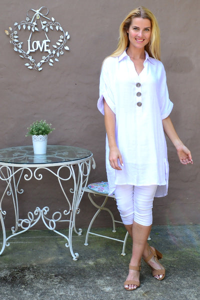 Blush Pink Cowl Neck Tunic Dress