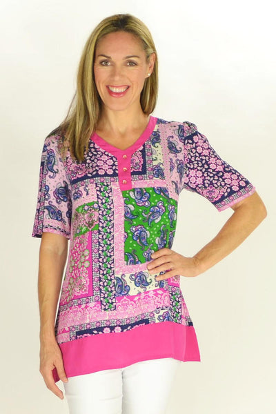 Flower Frame Tunic - at I Love Tunics @ www.ilovetunics.com = Number One! Tunics Destination