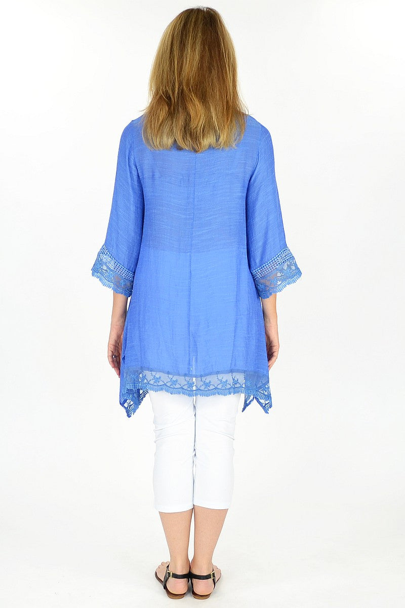 Blue Yamba Tunic | I Love Tunics | Tunic Tops | Tunic Dresses | Women's Tops | Plus Size Australia | Mature Fashion