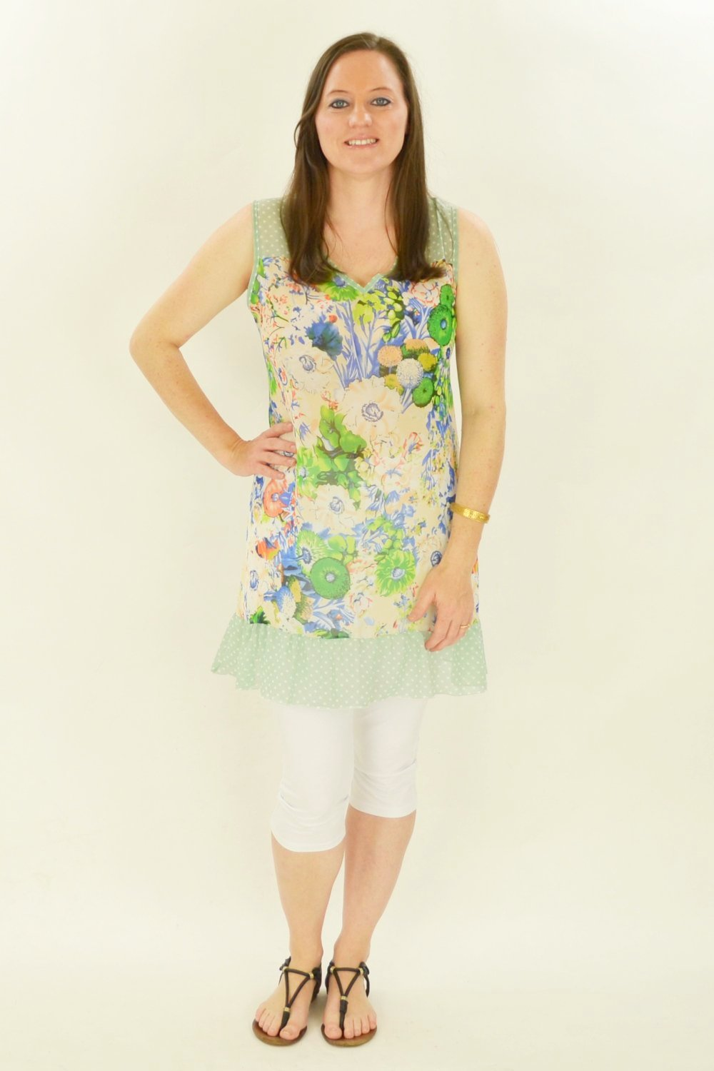 Blue Meadow Flowers Tunic