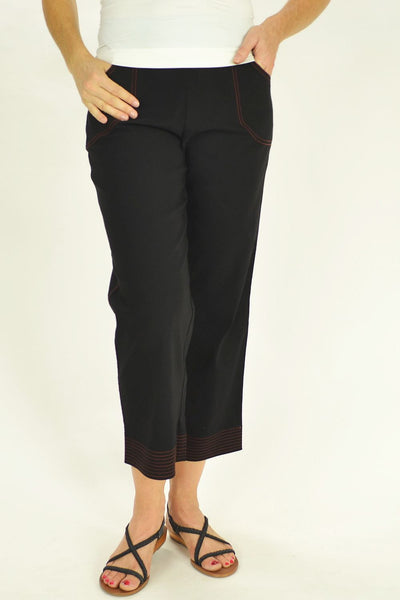 Black Ruby Clarity Pants - at I Love Tunics @ www.ilovetunics.com = Number One! Tunics Destination