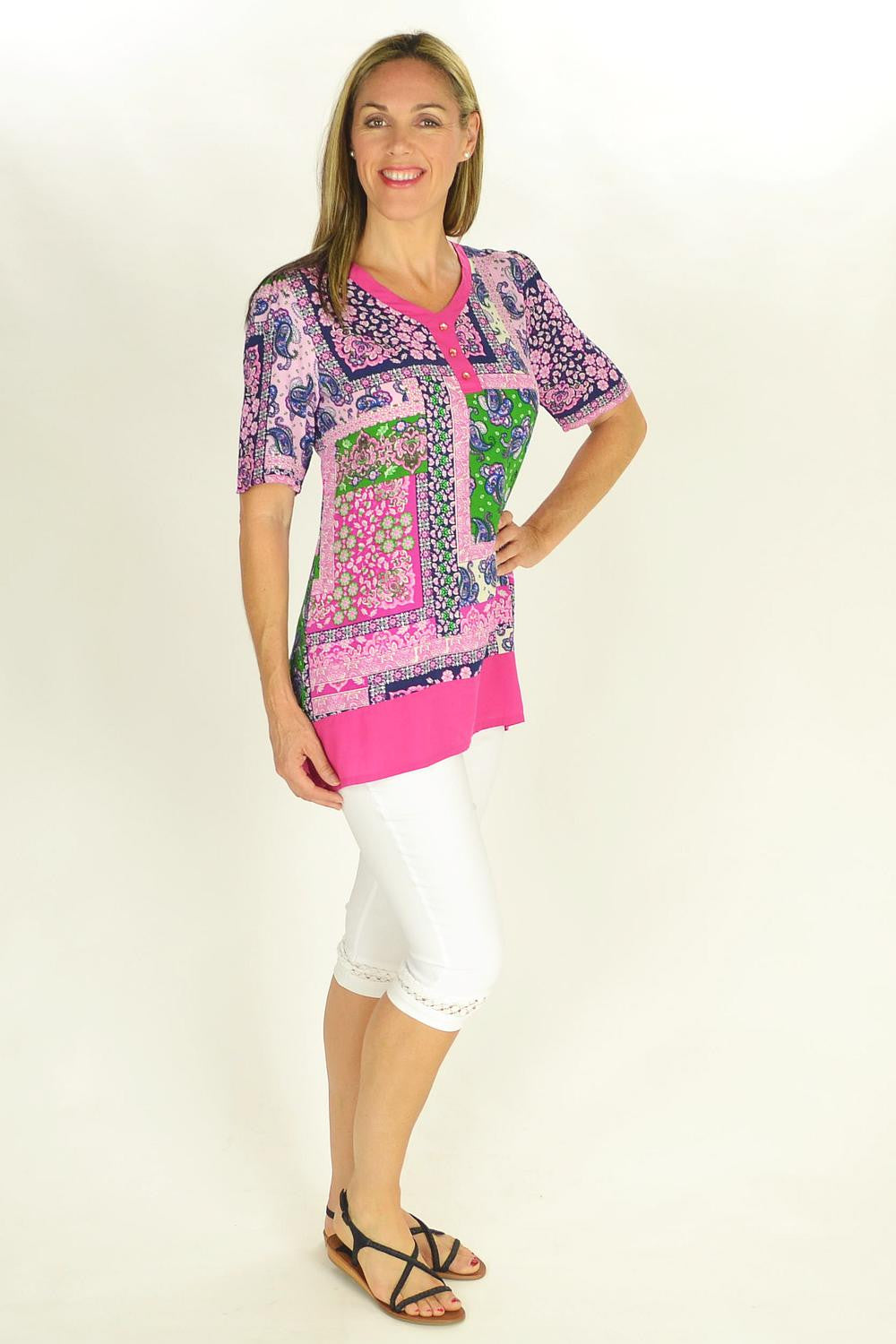 Flower Frame Tunic | I Love Tunics | Tunic Tops | Tunic | Tunic Dresses  | womens clothing online