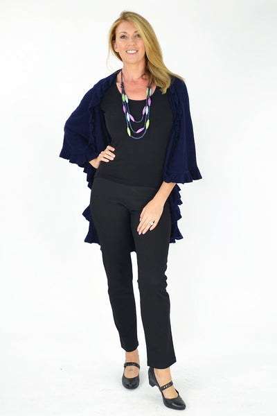 Nancys Navy Wrap - at I Love Tunics @ www.ilovetunics.com = Number One! Tunics Destination