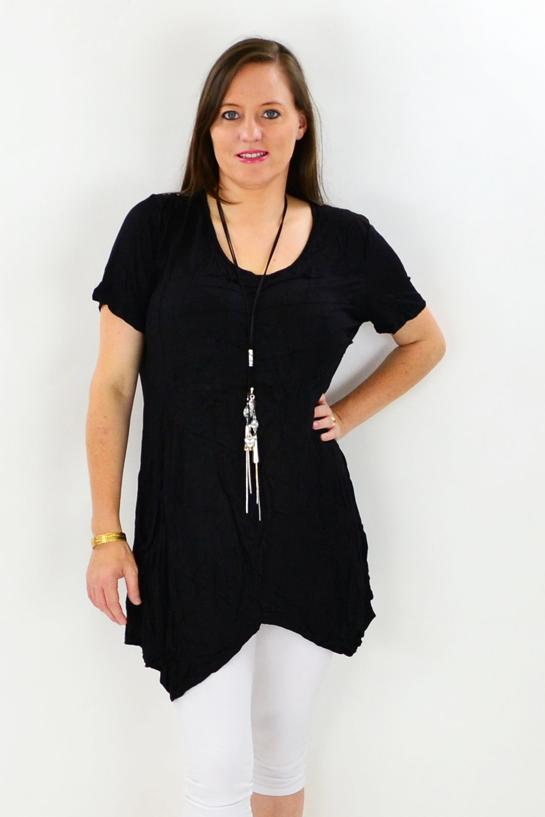 Black Lindeman Island Tunic - at I Love Tunics @ www.ilovetunics.com = Number One! Tunics Destination