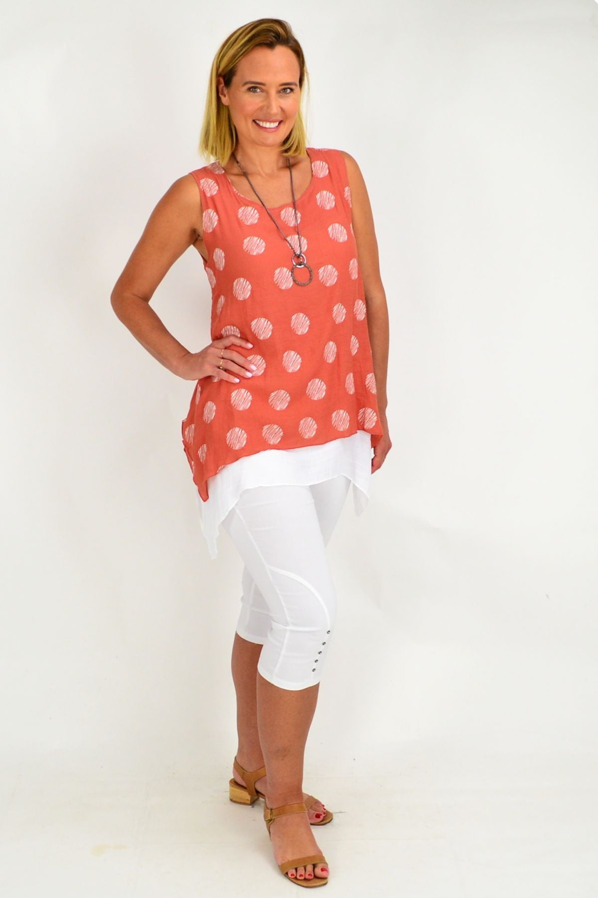 Rust Spot Overlay Tunic Top | I Love Tunics | Tunic Tops | Tunic | Tunic Dresses  | womens clothing online
