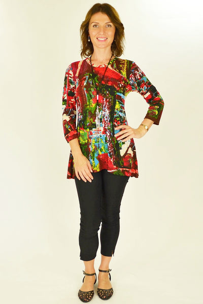 Ram Red Tunic Top