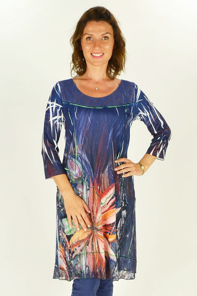 Frans Flower Tunic - at I Love Tunics @ www.ilovetunics.com = Number One! Tunics Destination