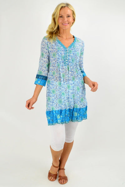 Faro V Neck Pleated Tunic Dress | I Love Tunics | Tunic Tops | Tunic | Tunic Dresses  | womens clothing online