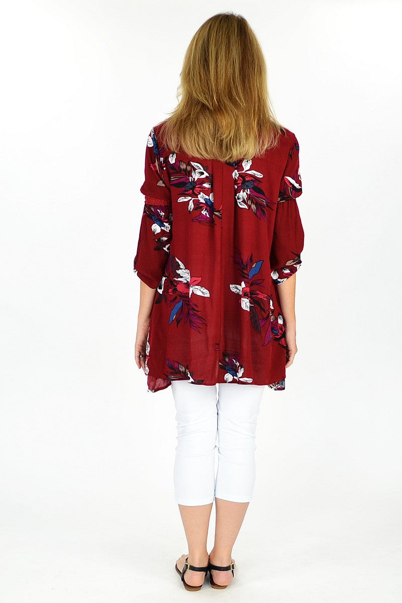 Burgundy Rachel Tunic - at I Love Tunics @ www.ilovetunics.com = Number One! Tunics Destination