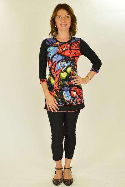 Colourful Splash Tunic Top