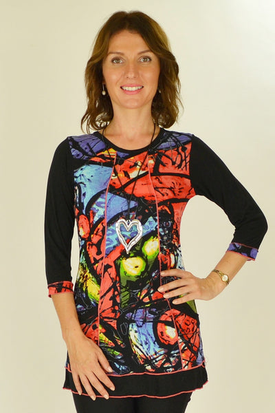 Colourful Splash Tunic Top - at I Love Tunics @ www.ilovetunics.com = Number One! Tunics Destination