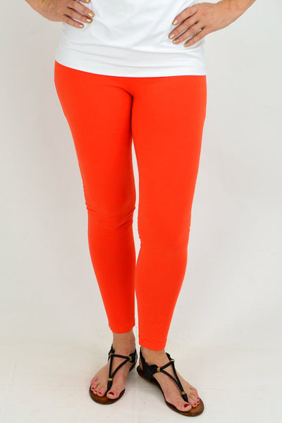 Ankle Length Orange Leggings | I Love Tunics | Tunic Tops | Tunic | Tunic Dresses  | womens clothing online