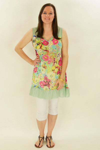 Pink Meadow Flowers Tunic