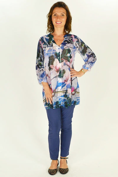 Flower Tree Shirt Tunic