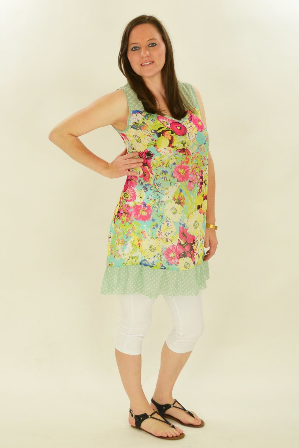 Pink Meadow Flowers Tunic | I Love Tunics | Tunic Tops | Tunic | Tunic Dresses  | womens clothing online