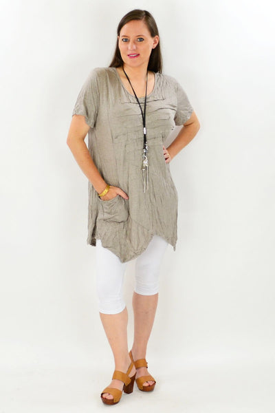 Taupe Lindeman Island Tunic - at I Love Tunics @ www.ilovetunics.com = Number One! Tunics Destination