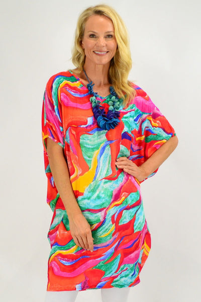 Tropical Swirl Relaxed Tunic Dress | I Love Tunics | Tunic Tops | Tunic | Tunic Dresses  | womens clothing online
