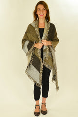 Brown Beige Diamond Scarf | I Love Tunics | Tunic Tops | Tunic | Tunic Dresses  | womens clothing online
