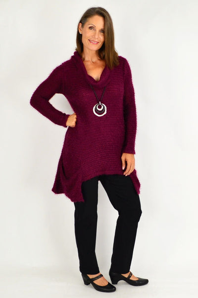 Burgundy Katherine Winter Tunic Top