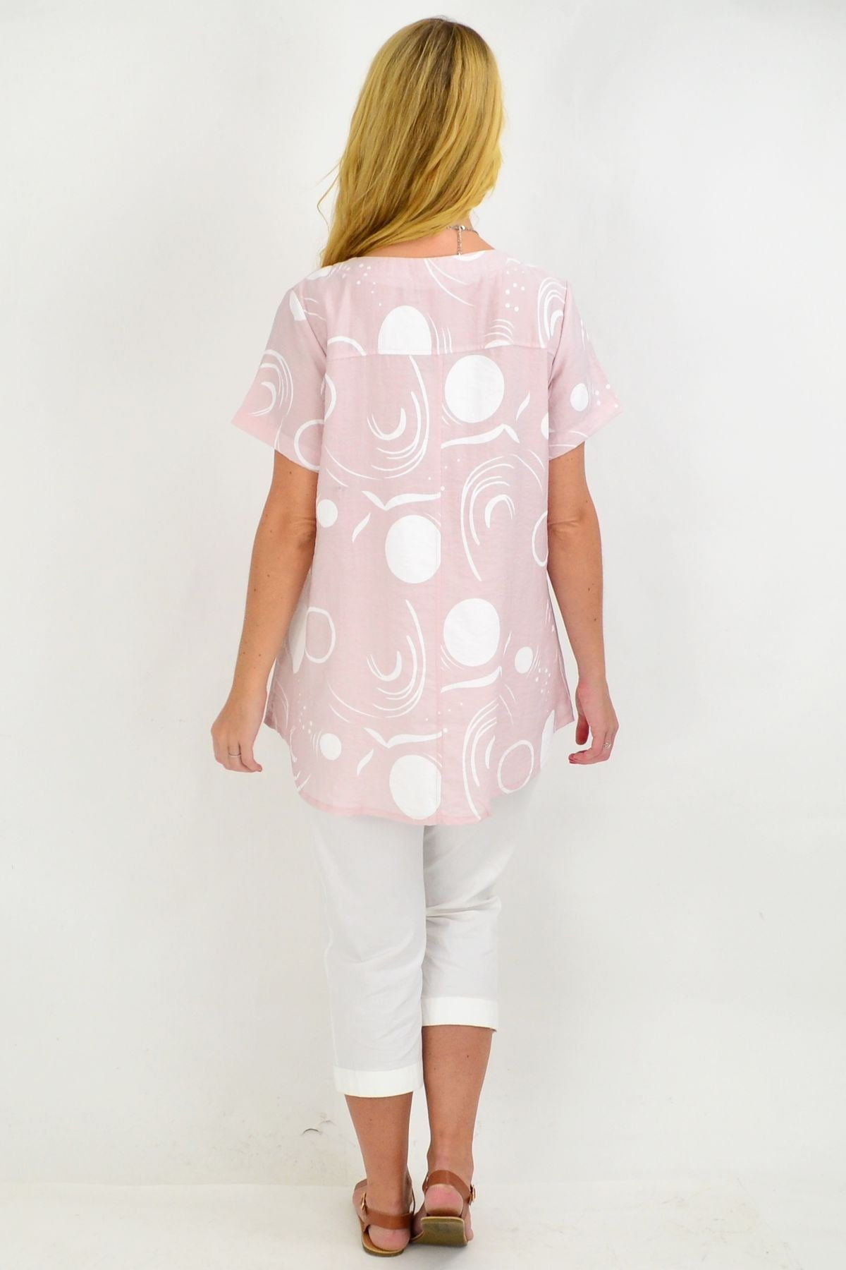Pink White Spot Tunic Top | I Love Tunics | Tunic Tops | Tunic | Tunic Dresses  | womens clothing online