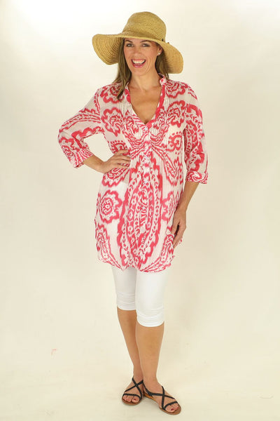 Red Rosa Tunic