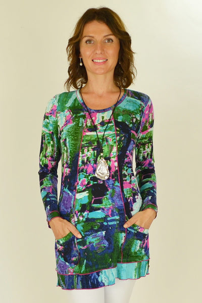Lily Pond Tunic Top - at I Love Tunics @ www.ilovetunics.com = Number One! Tunics Destination