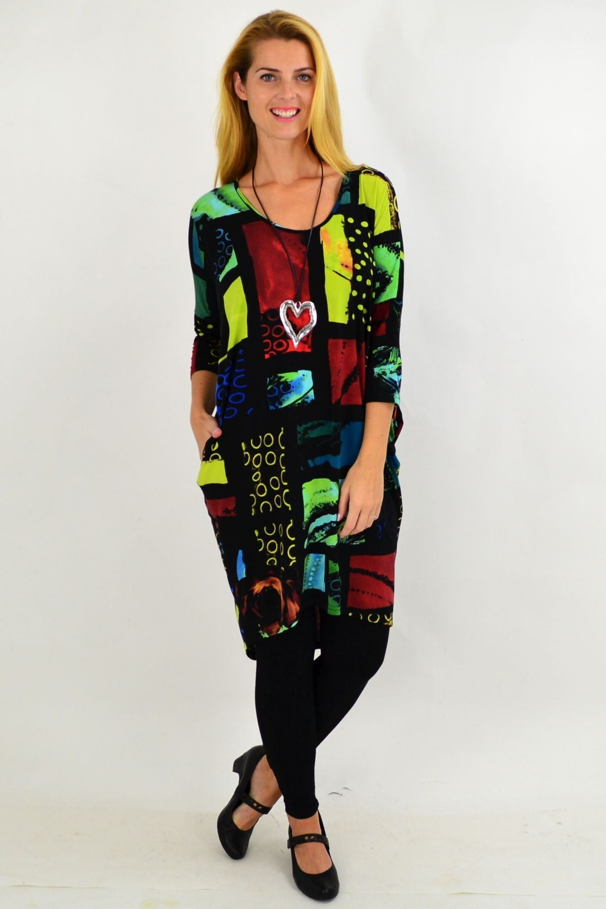 Multicolour Box Hi Low Tunic Dress | I Love Tunics | Tunic Tops | Tunic | Tunic Dresses  | womens clothing online