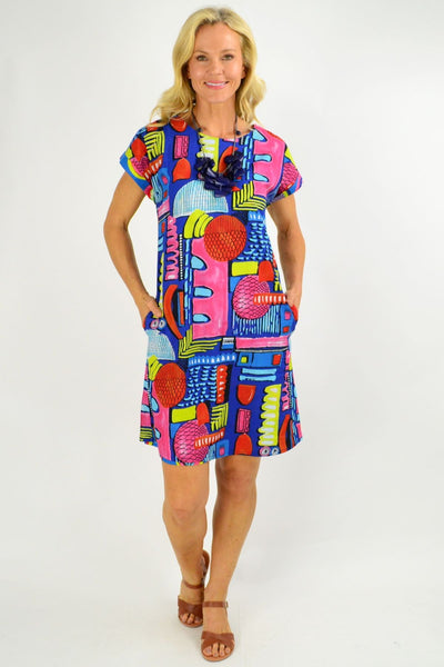 Catalonia Reversible Tunic Shift Dress