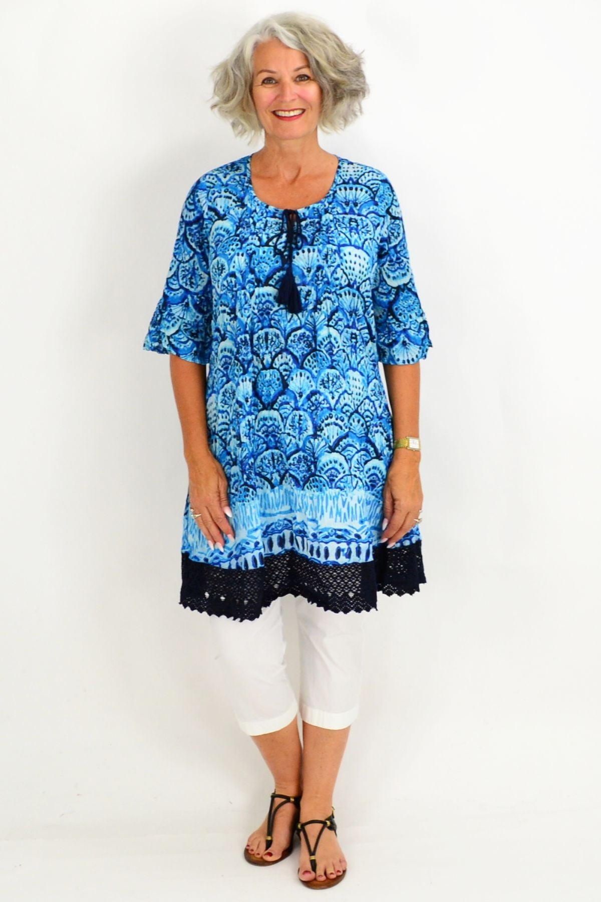 Blue Tahiti Tunic Dress | I Love Tunics | Tunic Tops | Tunic | Tunic Dresses  | womens clothing online