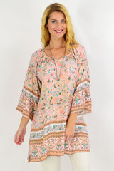 Pink Peacock Light & Pretty Tunic Top