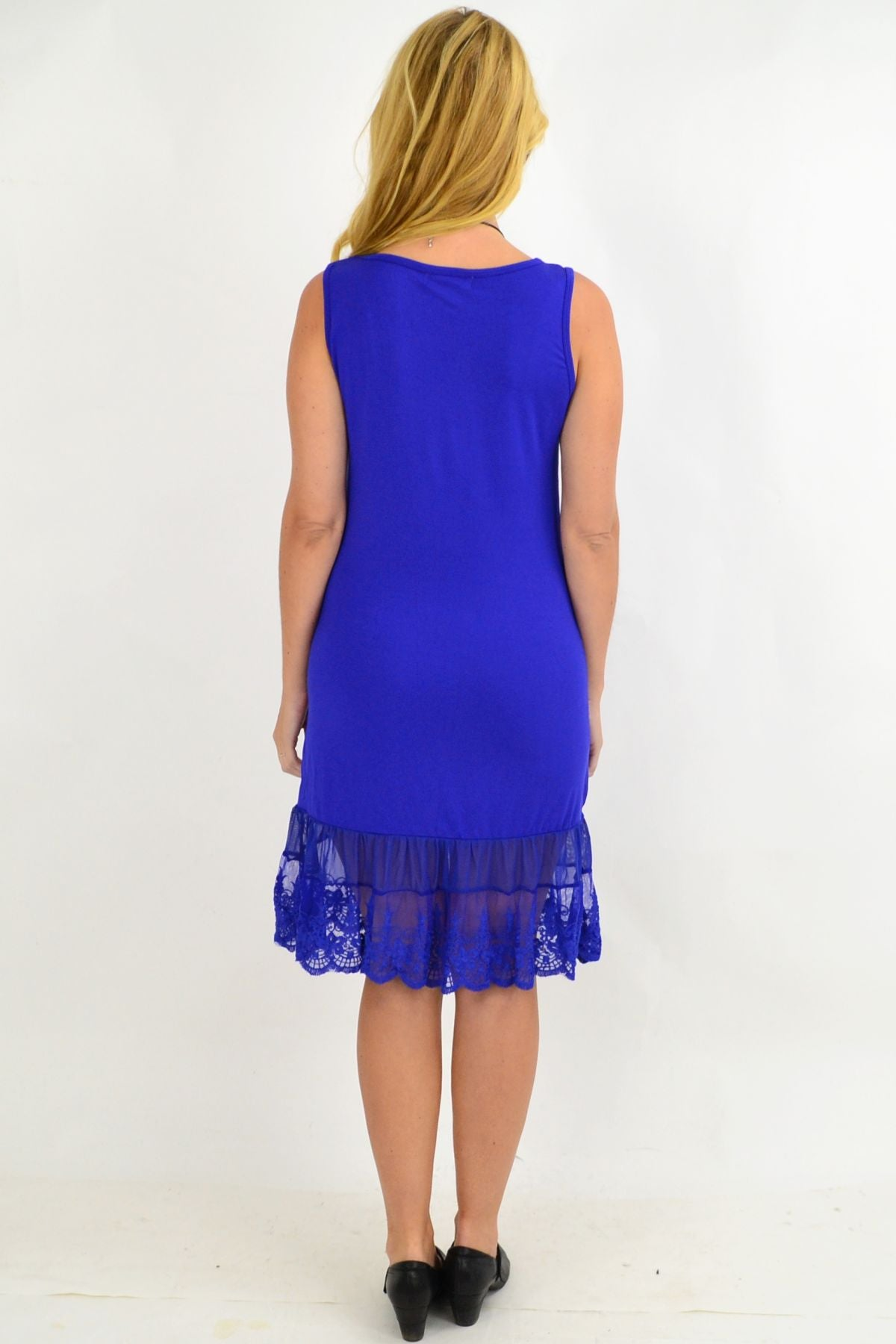 Clarity Cobalt Lace Trim Slip | I Love Tunics | Tunic Tops | Tunic | Tunic Dresses  | womens clothing online