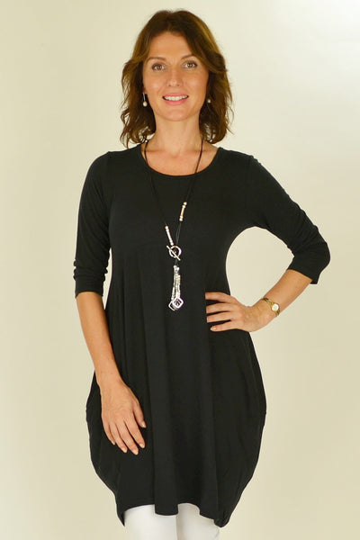 Black Bobby Tunic - at I Love Tunics @ www.ilovetunics.com = Number One! Tunics Destination