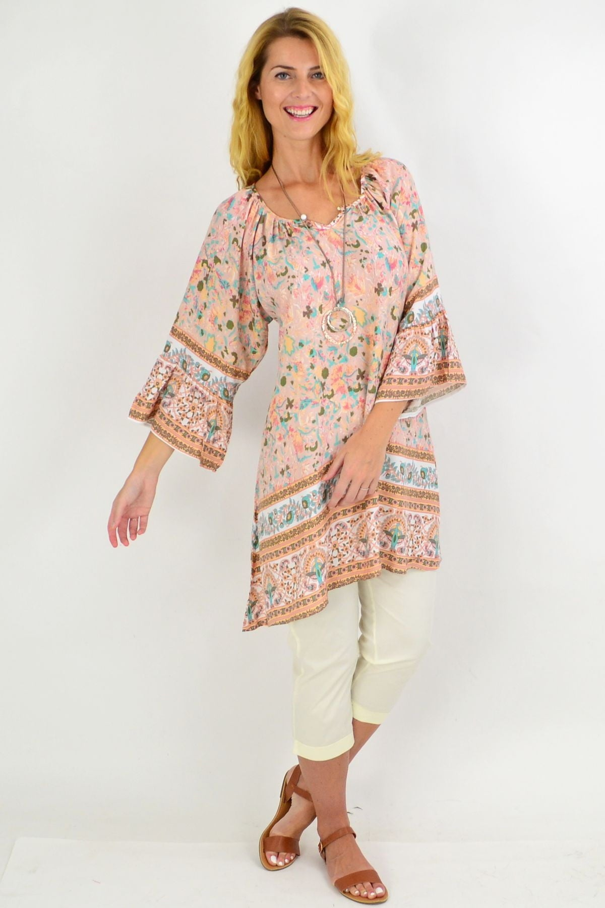 Pink Peacock Light & Pretty Tunic Top | I Love Tunics | Tunic Tops | Tunic | Tunic Dresses  | womens clothing online