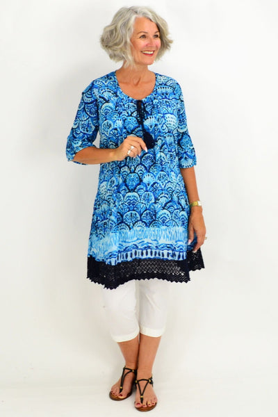 Blue Tahiti Tunic Dress