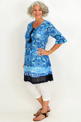 Taupe Heron Island Tunic - at I Love Tunics @ www.ilovetunics.com = Number One! Tunics Destination
