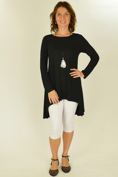 Black Essential Tunic Top