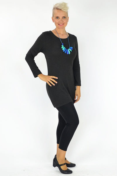 Charcoal Long Tunic - at I Love Tunics @ www.ilovetunics.com = Number One! Tunics Destination