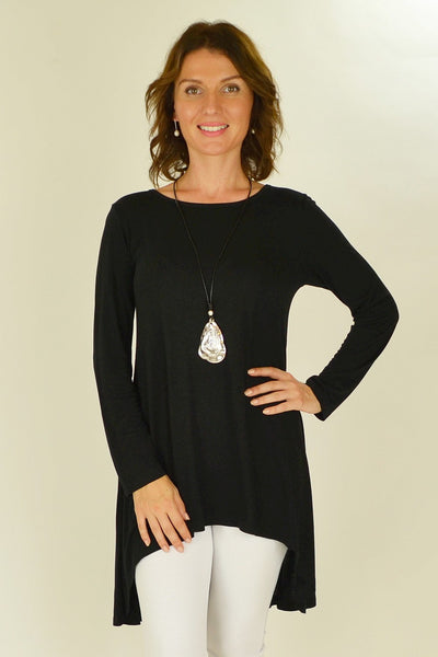 Black Essential Tunic Top - at I Love Tunics @ www.ilovetunics.com = Number One! Tunics Destination