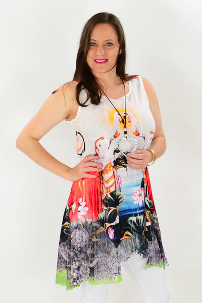 Lucky Elephant Tunic - at I Love Tunics @ www.ilovetunics.com = Number One! Tunics Destination
