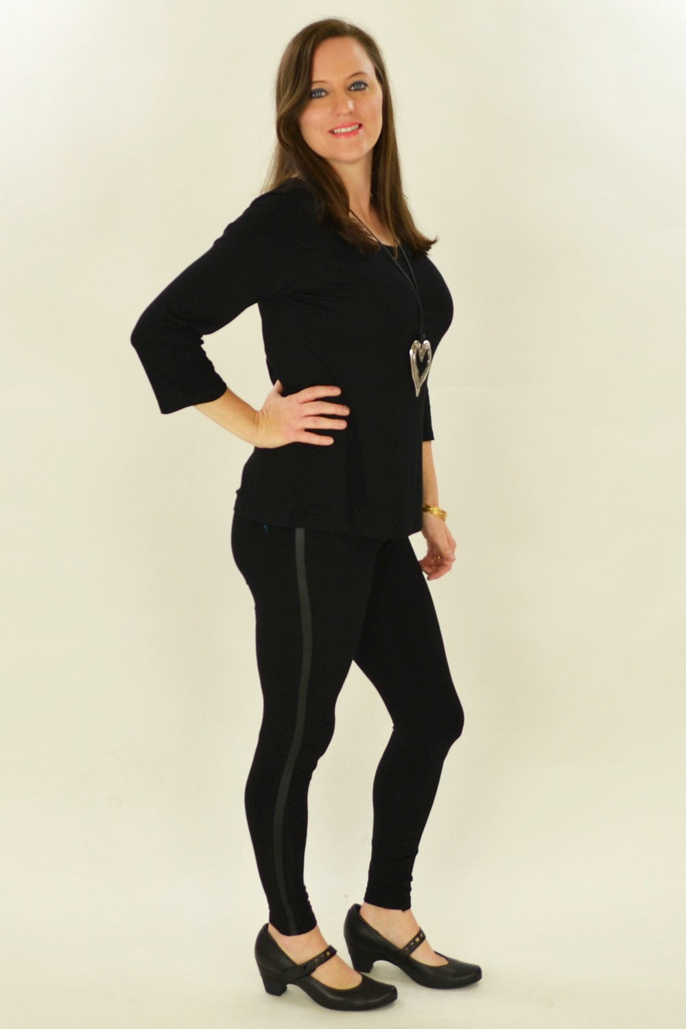 Black & Bling Cotton Leggings - at I Love Tunics @ www.ilovetunics.com = Number One! Tunics Destination