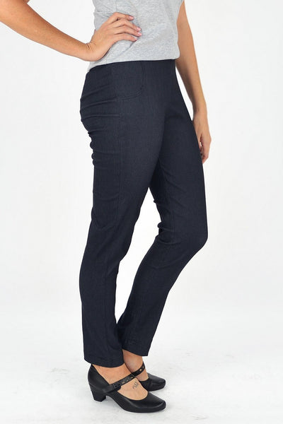 Threadz Charcoal Tummy Control Pants - I Love Tunics @ www.ilovetunics.com