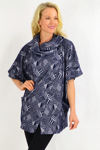 Navy Stripe Diamond Tunic Top | I Love Tunics | Tunic Tops | Tunic | Tunic Dresses  | womens clothing online