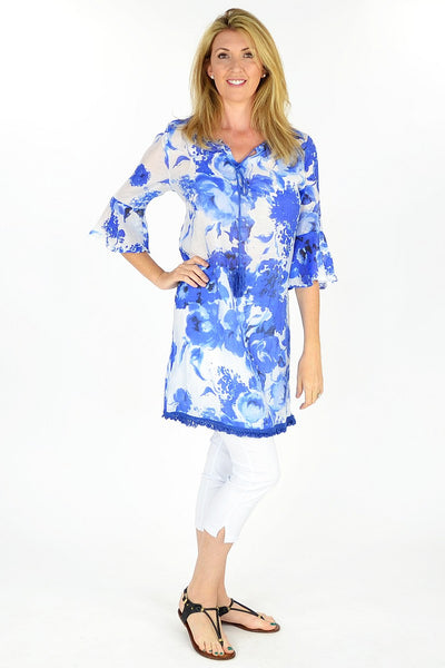 Blue Sunshine Tunic - at I Love Tunics @ www.ilovetunics.com = Number One! Tunics Destination
