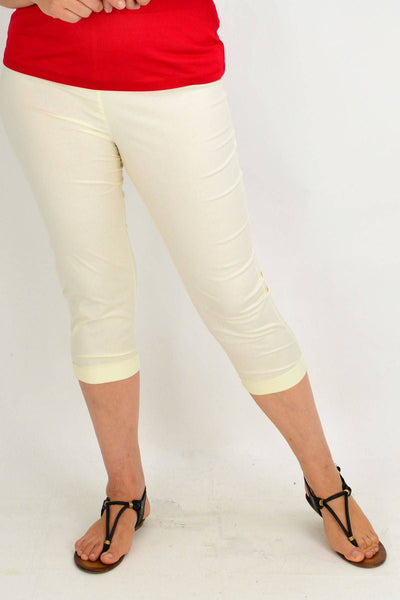 Ecru Cream Cotton Pants