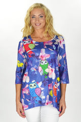 Flowers and Owl Tunic - at I Love Tunics @ www.ilovetunics.com = Number One! Tunics Destination