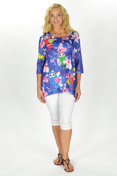 Flowers and Owl Tunic
