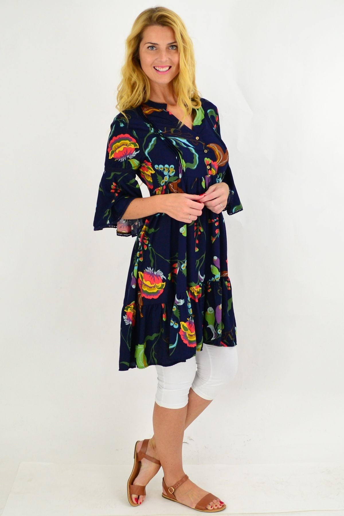 Navy Betty Bell Sleeve Tunic Dress | I Love Tunics | Tunic Tops | Tunic | Tunic Dresses  | womens clothing online