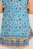 Aqua Floral Hi Low Tunic Top | I Love Tunics | Tunic Tops | Tunic | Tunic Dresses  | womens clothing online